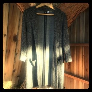 H&M Long Knit Cardigan With Collar